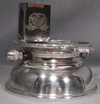 Vintage Shanghai Tang Hotel Silver Plate Ashtray Match Holder Mechanical Star Lo photo