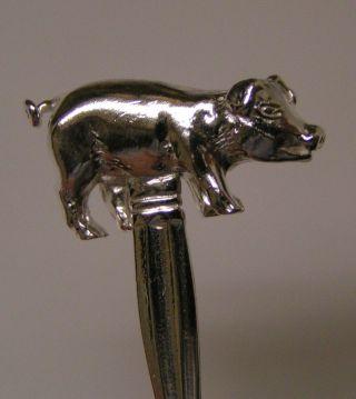 Salt Spoon (pig) Sterling Silver photo