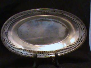 Antique Silmenl & George H.  Rogers Quadruple Nickel Silver Bread Bowl 5512 photo
