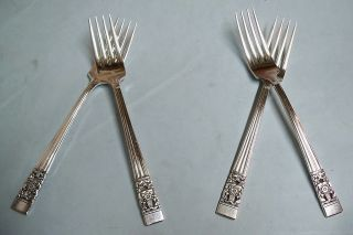 4 Coronation Dinner Forks - 1936 Community Classic - Clean & Table Ready photo