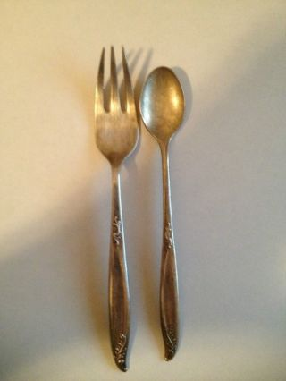 Fork Spoon Deep Silver Holmes And Edwards Set Of 2 photo