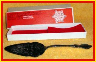 International Silver Christmas Collection Silver Plate Cake Server photo