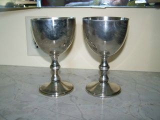 Pair Of Silver Goblets photo