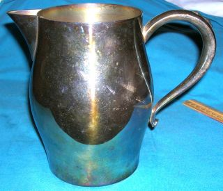 Oneida Silver Plated Paul Revere Reproduction Water Or Milk Pitcher Usa Made photo