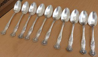 (10) 1847 Rogers Silverplate Teaspoons,  Vintage,  1904, photo