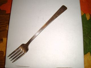 Antique Wm.  Rogers Mfg.  Co.  Extra Plate Silver Long Fork Monogrammed