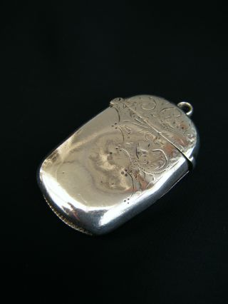 Victorian Antique Solid Silver Sterling 925 Ladies Vesta Case By R.  B,  B'ham 1896 photo