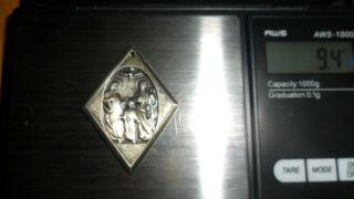 Silver Religious Medal 9.  3 Grams photo