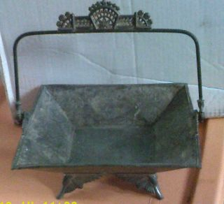 Silverplate Basket - Lovely,  Perfect - Hartford Silver Quad - Lg=9 - 1/2 X 3 - 1/2 - - Estate photo