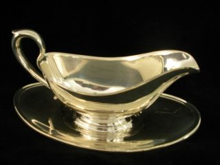 Gorham Silverplate Antique Gravy/sauce Boat - Colonial Yc 430 photo