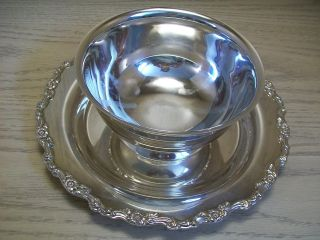Oneida Silver Co Sauce Gravy Boat With Plate Attach Royal Provincial Design photo