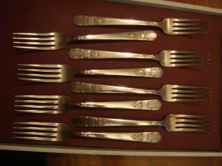 Harmony Pattern Oneida Ltd.  Wm.  A Rogers Silverware Re - Inforced Dinner Forks photo
