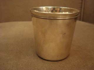 Christofle Silvered Cup / Beaker France photo