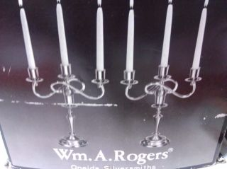 Oneida Wm.  A.  Rogers Candelabra (silverplate) photo
