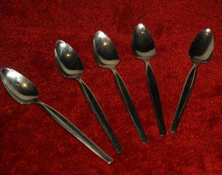 Vintage Wm Rogers Mfg Co Serrated Fruit Spoon Set Of Five (5) photo
