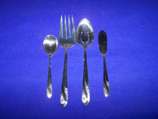 4 International Silver Romance Serving Pieces photo
