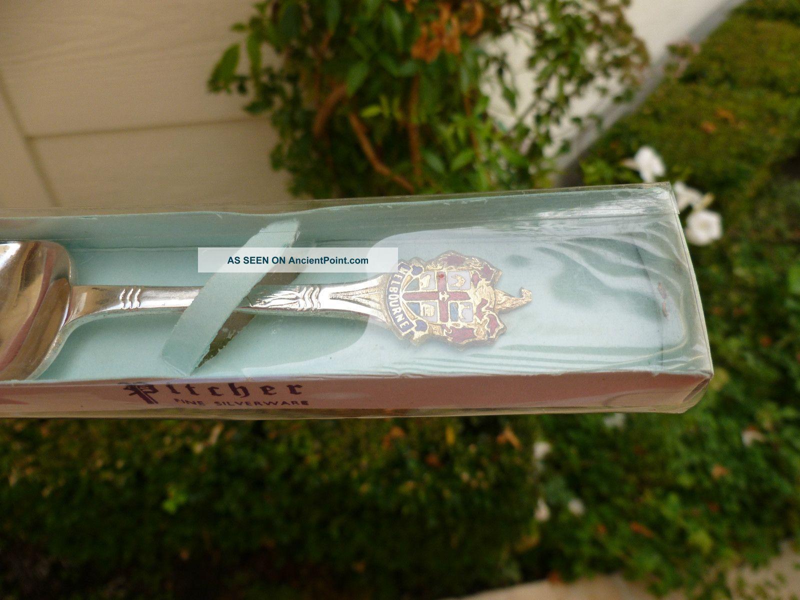 Pitcher Epsn A1 Silverware Enamel Souvenir Jam Spoon Melbourne Box Souvenir Spoons photo