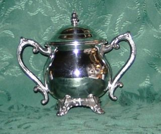 Vintage 1883 F.  B.  Rogers Silver Footed Sugar Bowl & Lid 2352 Mint photo