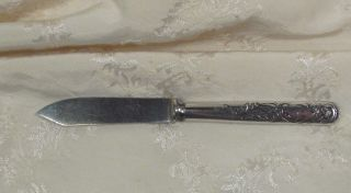 Toronto Silver - Plate Butter/fruit Knife 12 Dwt Ornate Handle No Monogram photo