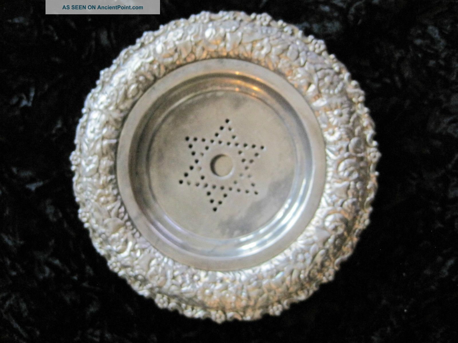 Meriden B.  Company Silver Plate Butter Dish Star David 2 Piece Ice Underneath Butter Dishes photo