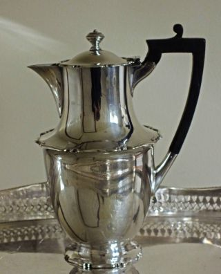 A Stunningly Small Mid Victorian Silver Plated Coffee Pot,  Pristine. photo