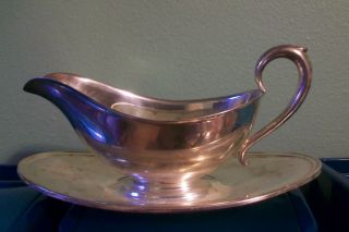 Gorham Silver Plate Antique Gravy Server / Sauce Boat - Yc430 photo