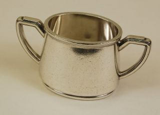 1939 White Star Line Sugar Bowl - Silver Plate - Ocean Liner Marine - Art Deco photo