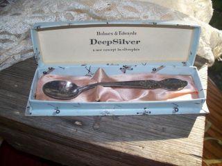 Precious Vtg.  Baby Spoon,  Wm Rogers & Son,  Is,  Silver Or Silverplate,  Box photo