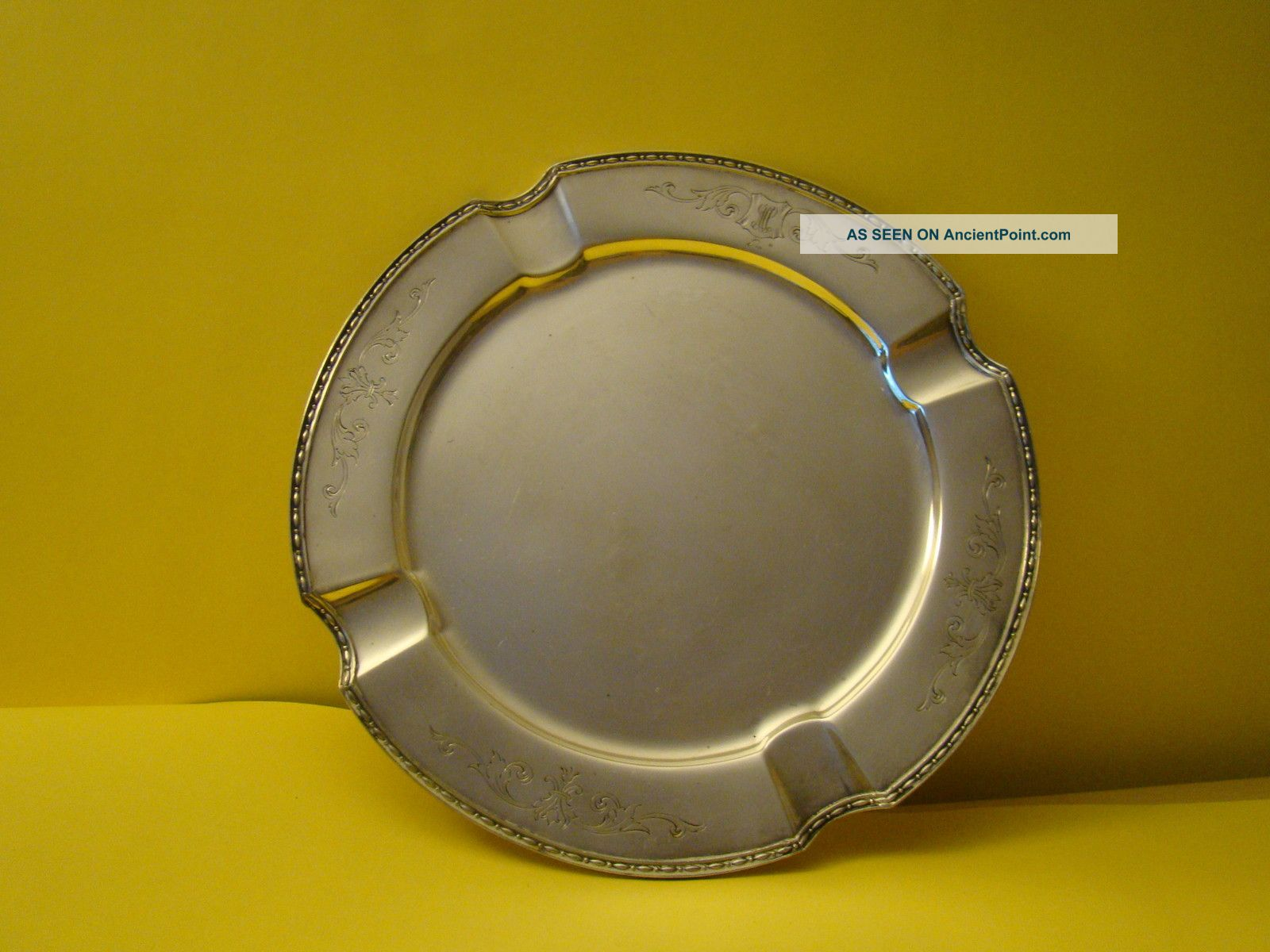 Silverplated Cigar Ash Tray Chippendale Ash Trays photo