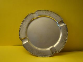 Silverplated Cigar Ash Tray Chippendale photo