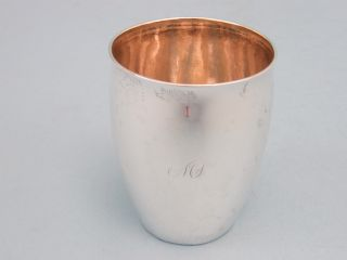 Early Coin Silver Beaker (c.  1845) photo