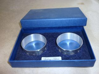 Unused Cased Silver Napkin Rings 1993,  Not Engraved photo