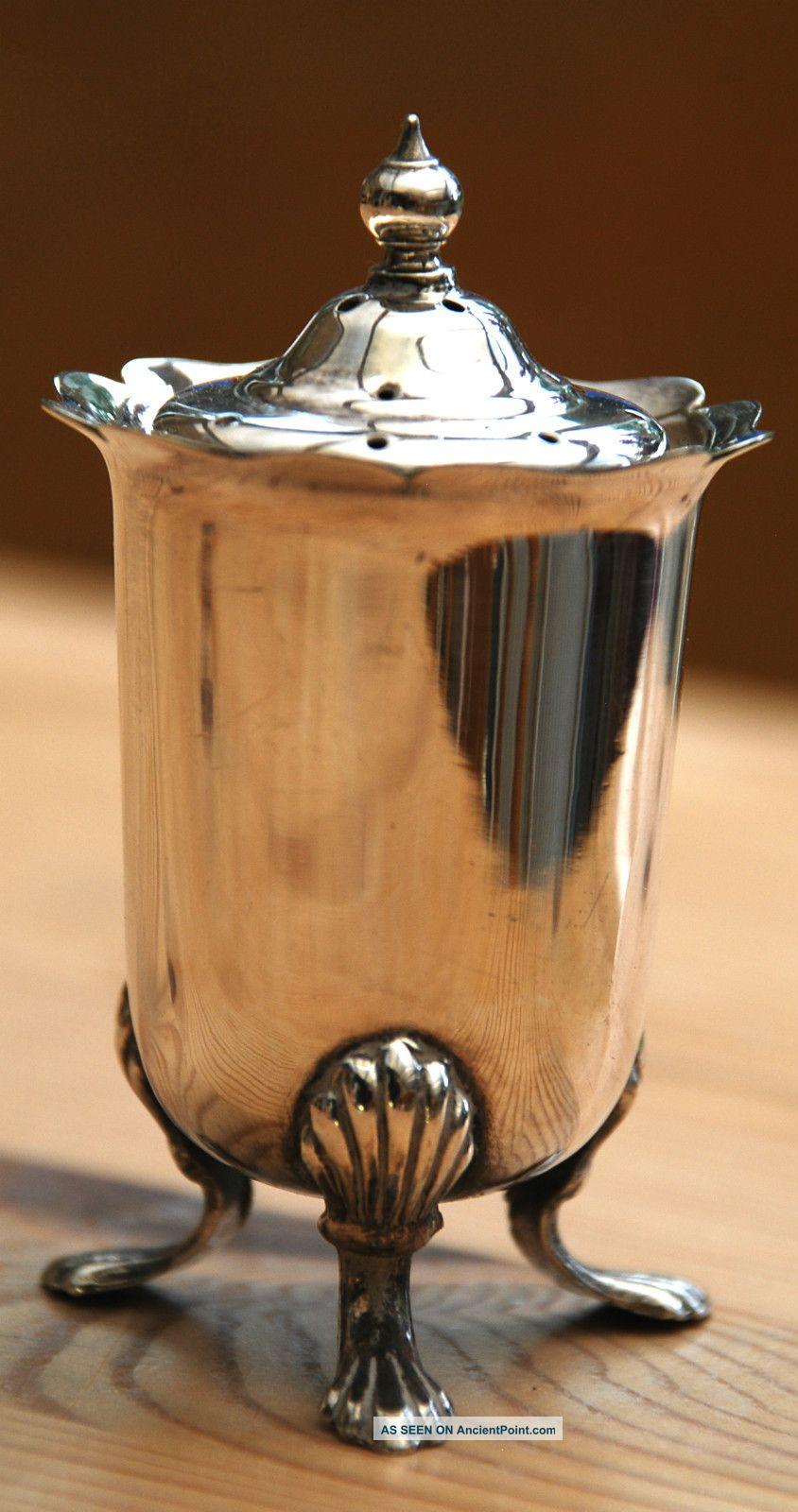 Silver Plate Salt Cellar Salt & Pepper Cellars/ Shakers photo