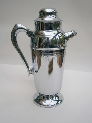 Vintage Chrome Plated Cocktail/punch Jug photo