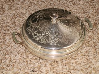 Rare 1880 ' S Derby Silver Plate Tureen (floral Pattern) Fall Sale photo