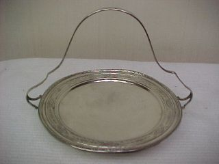 Sterling Silver Tray With Handle 102.  Grams photo