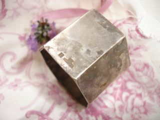 Vintage French Silver - Plated Christofle Napkin Ring photo