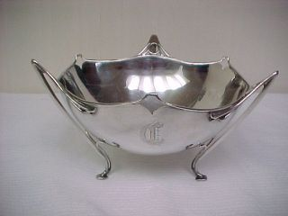 English Sterling Footed Round Bowl Holloware 283 Grams photo