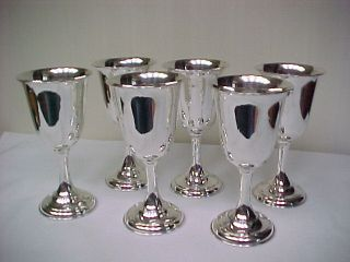 Sterling Silver Wine Cups Goblets Holloware 22 Oz photo