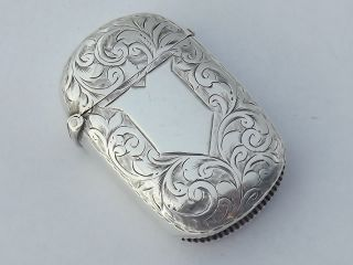 Victorian Solid Silver Vesta Case - Birmingham 1894 photo
