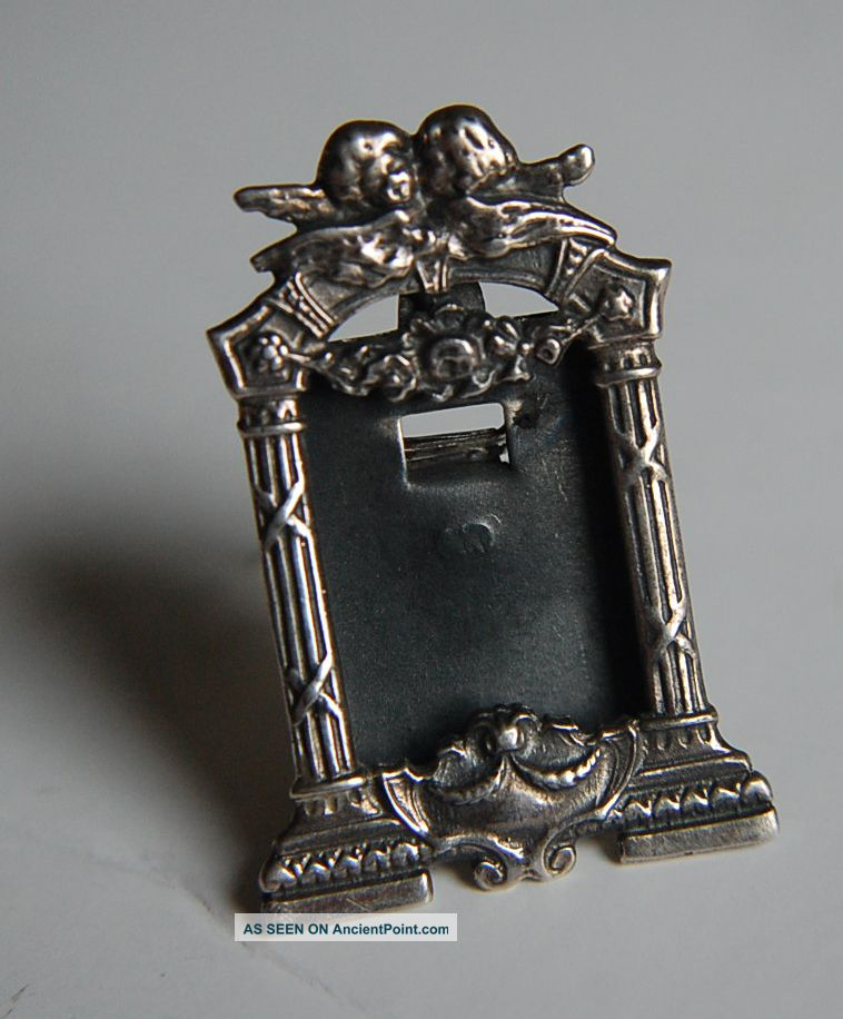 Vintage Silver Cherub Miniature Silver Frame Frames photo