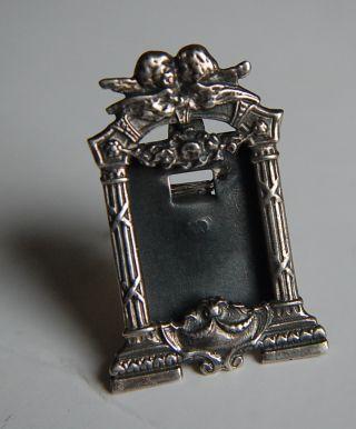 Vintage Silver Cherub Miniature Silver Frame photo