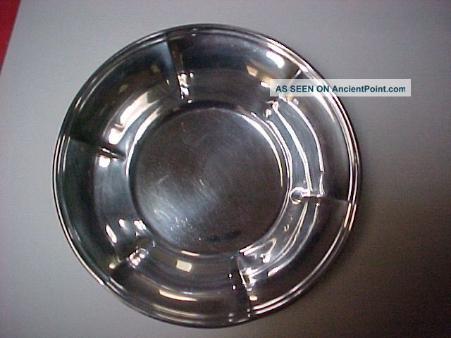 Sterling Silver Bowl Approx 112 Grs 3.  6 Oz Marked Sterling Pb53 1 1/2
