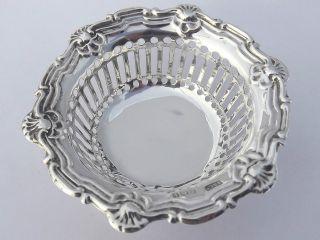 Antique Art Nouveau Solid Silver Bon Bon Dish - Birmingham 1910 photo