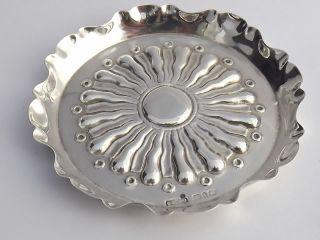 Antique Arts & Crafts Solid Silver Dish - Birmingham 1890 photo