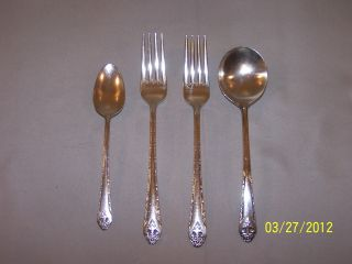 Holmes & Edwards Lovely Lady Pattern 2 Forks Serving Spoon Teaspoon photo