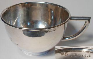 Solid Sterling Silver 800 Italian Cup Brandimarte Firenze 1974 - 120g photo