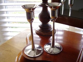 1980 ' S Pair Of Silver Plated Candlesticks Arthur Price County Plate Italy photo