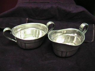 Wallace Sterling Silver Creamer And Sugar 212 Great Cond.  208 Grams,  Nr photo