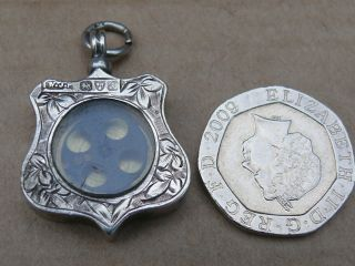 Rare Ww2 Escape Compass Set In Antique Silver Watch Fob - Chester 1901 photo